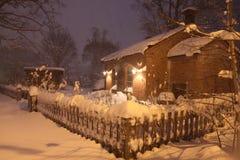 Casa de la Navidad Nevado fotografía de archivo