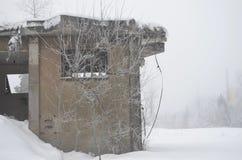Casa de la nieve Foto de archivo libre de regalías