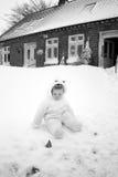 Casa de la nieve del bebé Imagen de archivo libre de regalías