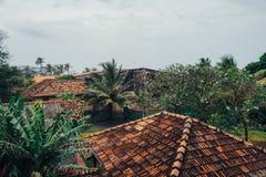 Casa de la palma Sri Lanka de las tejas Foto de archivo