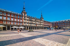 Casa de la Panadería, Plaza Mayor, Madrid, Spain, España. The Plaza Mayor was built during Philip III's reign (1598–1621) and is a central plaza in stock photography