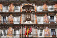 Casa de la Panaderia on Plaza Mayor in Madrid, Spa Stock Image