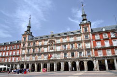 Casa de la Panaderia on Plaza Mayor in Madrid, Spa Royalty Free Stock Photos