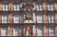 Casa de la Panaderia on Plaza Mayor in Madrid, Spain Stock Photos