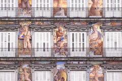 Casa de la Panaderia, sindaco della plaza, Madrid. Immagine Stock
