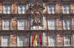 Casa de la Panaderia su sindaco della plaza a Madrid, Spagna Fotografie Stock