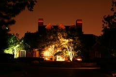 Casa de la paz en la noche Foto de archivo