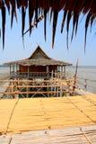 Casa de la pesca en mar Fotos de archivo
