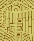 Casa de la pintura abstracta geométrica de la lona de las llaves Fotos de archivo
