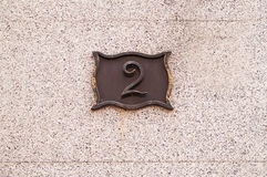 Casa 2 de la placa Foto de archivo