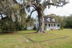 Casa de la plantación cerca de Charleston fotos de archivo