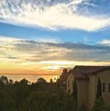 Casa de la puesta del sol Foto de archivo libre de regalías