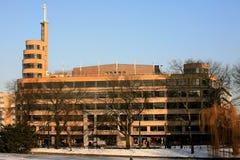 Casa de la radio en el cuadrado de Flagey, Bruselas Imagen de archivo