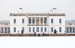 Casa de la reina en Greenwich en un día de invierno frío Foto de archivo