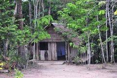 Casa de la selva del Amazonas Foto de archivo libre de regalías