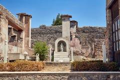 Casa de la supervivencia en Pompeya, Italia imagen de archivo libre de regalías