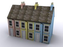 casa de la terraza 3D Fotografía de archivo