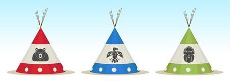 Casa de la tienda de los indios norteamericanos Foto de archivo