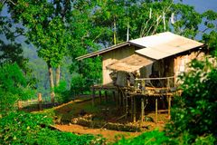 Casa de la tribu de la colina Imagen de archivo