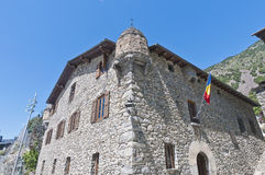 The Casa de la Vall at Andoorra-La-Vella. At Andorra royalty free stock images
