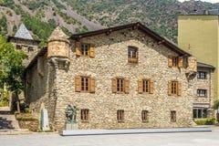 Casa de la Vall - Old Parliament of Andorra. Old Parliament of Andorra - Casa de la Vall Royalty Free Stock Image
