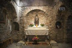 Casa de la Virgen María en Ephesos, Turquía Foto de archivo