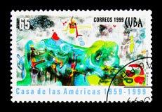 Casa de las Americas, quarantesimo anniversario, serie, circa 1999 fotografia stock libera da diritti