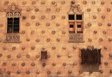 Casa de las Conchas亚细亚行在萨拉曼卡 免版税库存图片