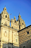 Casa de las Conchas and Church at Salamanca. Casa de las Conchas and Church of la Clerecia at Salamanca (Castile and Leon, Spain Royalty Free Stock Image
