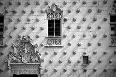 Casa de las Conchas i Salamanca Royaltyfri Bild