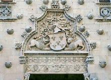 Casa de las Conchas i Salamanca, Spanien Arkivfoto