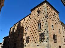 Casa de las Conchas in Salamanca Royalty Free Stock Photos
