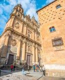 Casa de las Conchas a Salamanca, Castiglia y Leon, Spagna Fotografie Stock Libere da Diritti