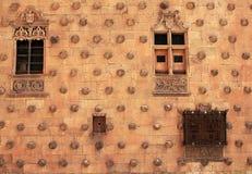 Casa de las Conchas shell house in Salamanca royalty free stock images