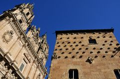 Casa de las Conchas and University of Salamanca Stock Photo