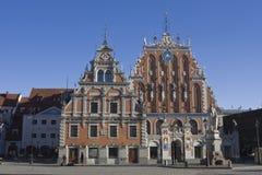 Casa de las espinillas en Riga Imagen de archivo