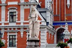 Casa de las espinillas en Riga, Letonia imágenes de archivo libres de regalías