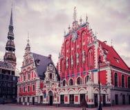 Casa de las espinillas Riga imagen de archivo