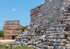 Casa de Las Monjas, Ancient Mayan Ruins at Chichen Itza. Yucatan, Mexico Stock Photo