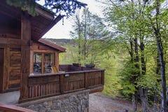 Casa de las montañas Imagenes de archivo