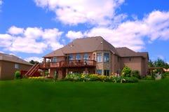 Casa de las propiedades inmobiliarias Foto de archivo libre de regalías