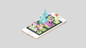 Casa de las propiedades inmobiliarias de la animación y arquitectura comercial del edificio y del paisaje urbano haciendo estalla libre illustration