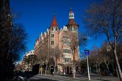 Casa de les Punxes στη Βαρκελώνη Ισπανία Στοκ φωτογραφία με δικαίωμα ελεύθερης χρήσης