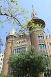 Casa de les punxes. Building in Avenida Diagonal, Barcelona, Spain Stock Photos