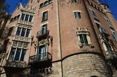 Casa de les Punxes, Barselona, Spanien Royaltyfri Bild