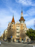 Casa de les Punxes (Casa Terrades) in Barcelona Royalty Free Stock Photos