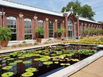 Casa de Linnean en el jardín botánico de Missouri, ST Louis MO fotografía de archivo