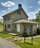 A casa de Locktender no fechamento #23, Walnutport, Pensilvânia, EUA imagem de stock royalty free