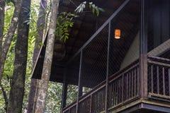 Casa de log velha do vintage Foto de Stock