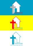Casa de Logo Cross Imagem de Stock Royalty Free